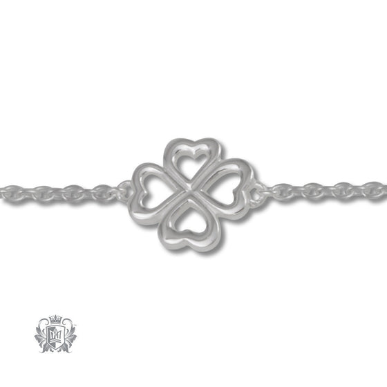 Four Leaf Clover Anklet - Metalsmiths Sterling™ Canada