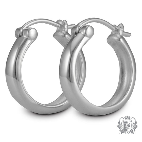 Metalsmiths Sterling Silver Round Lever Clasp Hoops