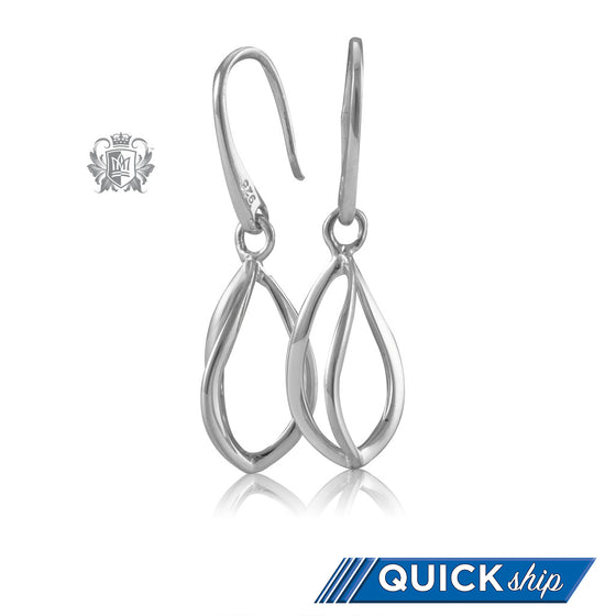 Metalsmiths Sterling Silver Twisted Tulip Hanger Earrings Quick Ship