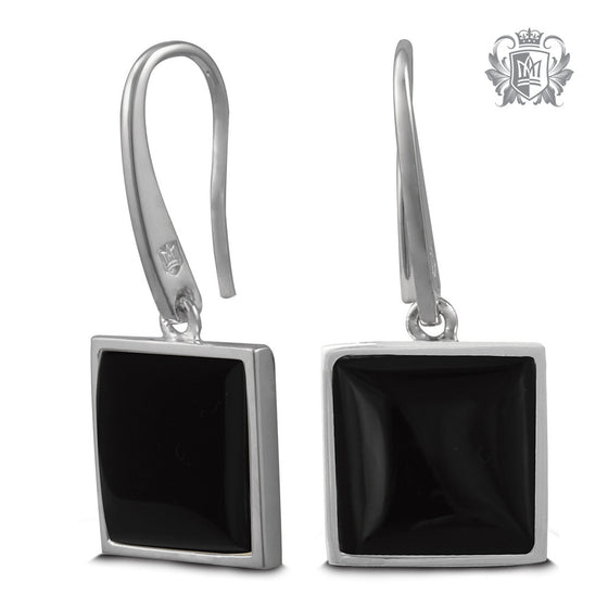 Metalsmiths Sterling Silver Square Black Onyx Hangers