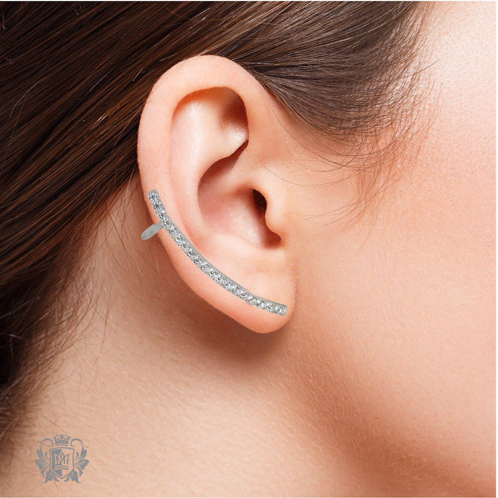 Metalsmiths Sterling Silver Dazzling Ear Collars - model