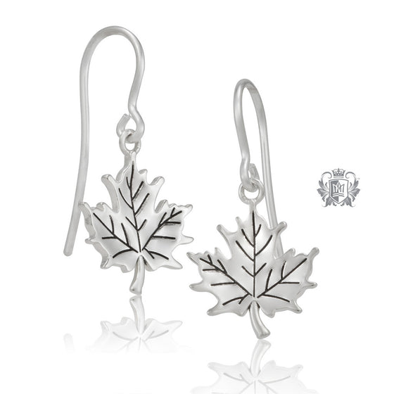 Metalsmiths Sterling Silver Natural Maple Leaf Earrings 1