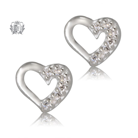 Open Heart Cubic Studs