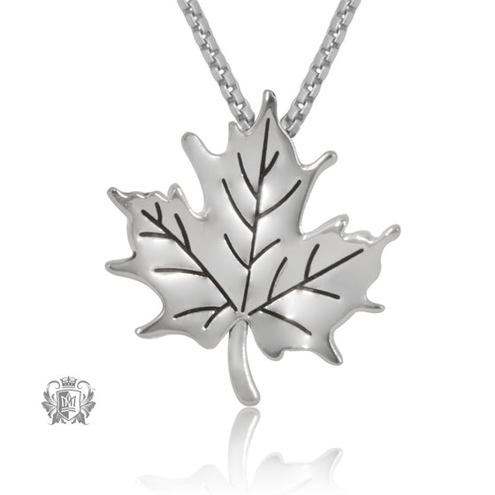 Metalsmiths Sterling Silver Natural Maple Leaf Pendant