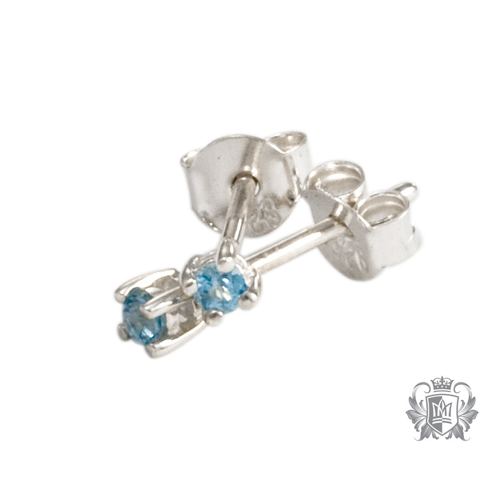Blue Topaz Small Prong Set Studs - Metalsmiths Sterling™ Canada