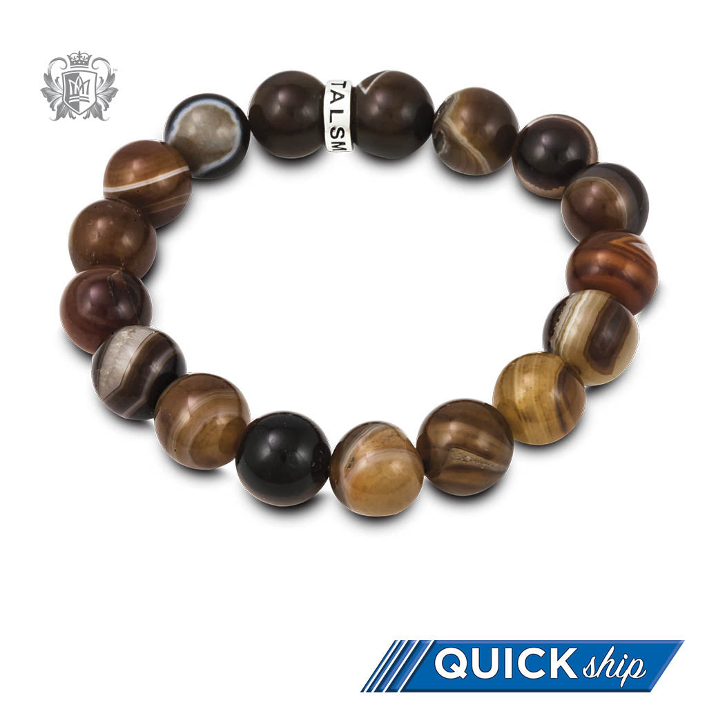 Quick Ship Brown Agate Friendship Bracelet