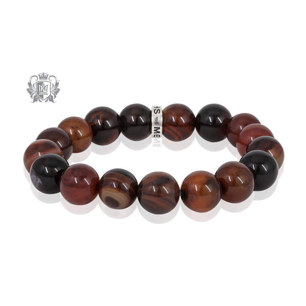 Brown Agate  Friendship Bracelet - Metalsmiths Sterling™ Canada