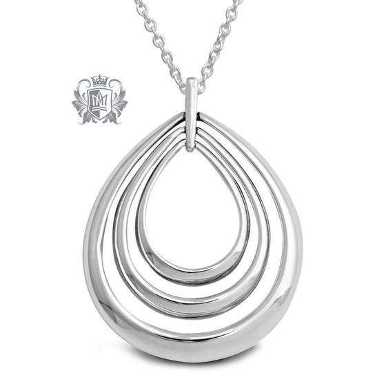 Triple Teardrop Pendant - 18 inch chain Pendants - 1
