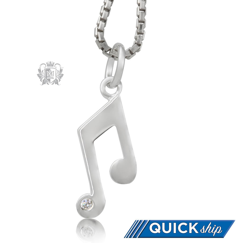 Quick Ship Double Music Note Pendant
