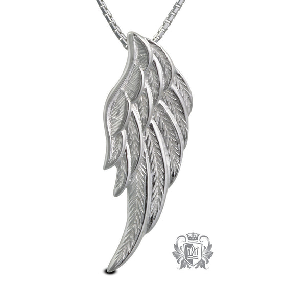 Angel Wing Pendant - 18 inch box chain Pendants - 1