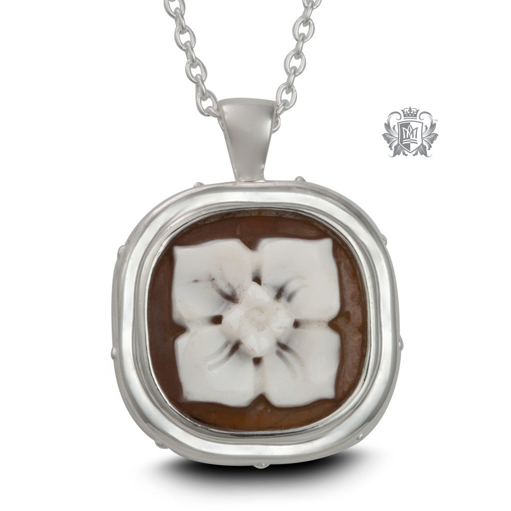Artisan Carved Cameo Pendant - Front