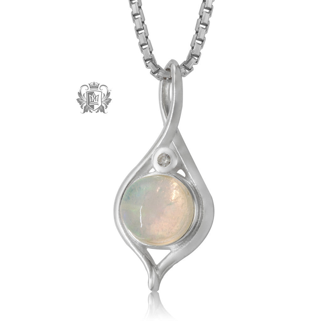 Metalsmiths Sterling Silver Graceful Opal Pendant
