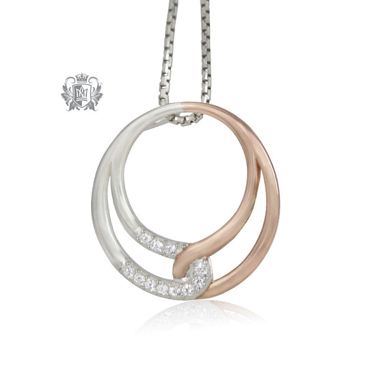 Metalsmiths Sterling Silver Rose Gold Dipped Embrace Loop Pendant