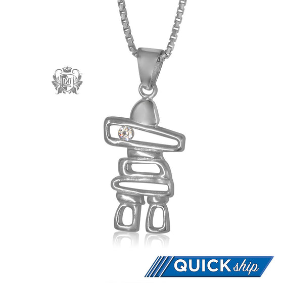 Inukshuk Pendant with Cubic Quick Ship