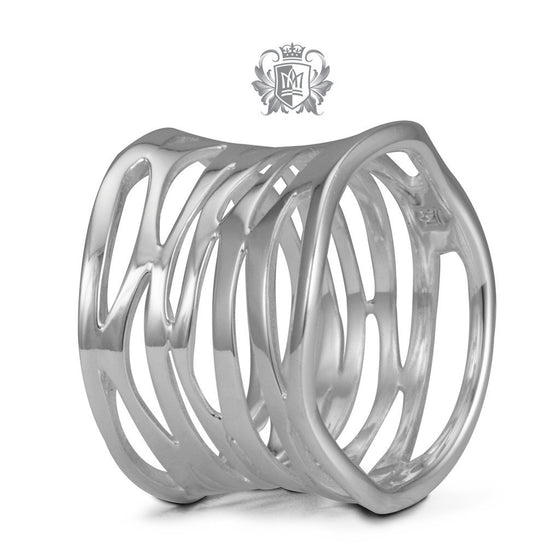 Modern Web Band - Size 6 Rings - 1