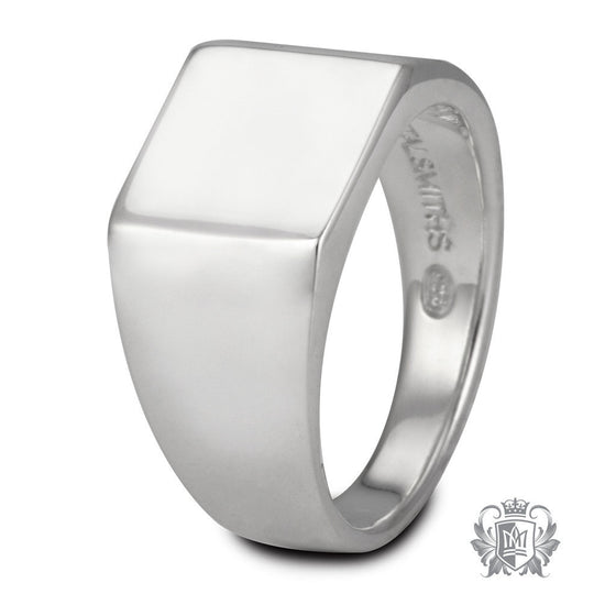 Medium Square Top Signet Ring - Metalsmiths Sterling™ Canada