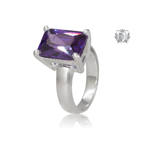 Lady in Waiting Ring Amethyst Cubic Metalsmiths Sterling Silver