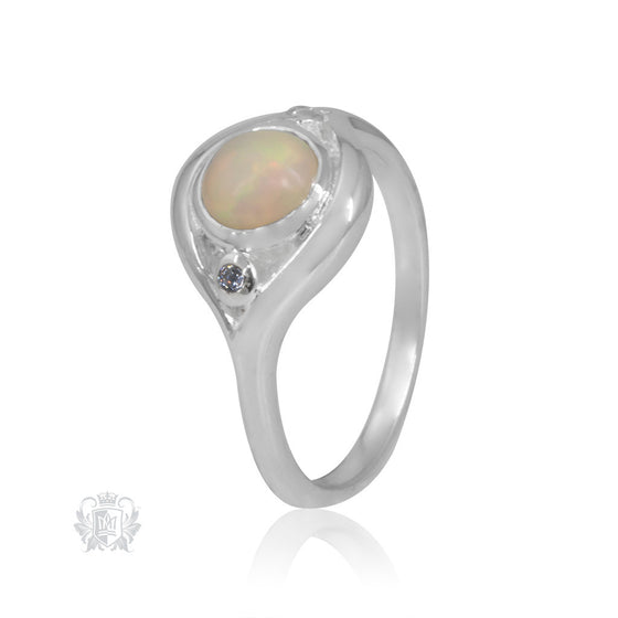 Metalsmiths Sterling Silver Graceful Opal Ring