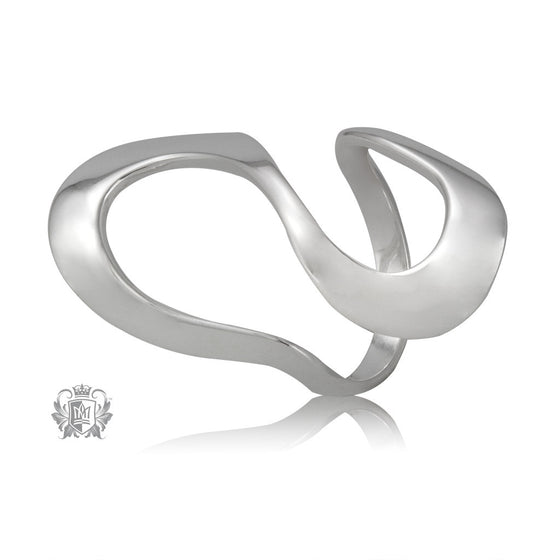 Metalsmiths Sterling Silver Modern Open Loop Band