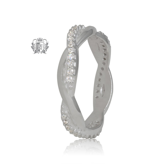 Metalsmiths Sterling Silver Braided Cubic Band