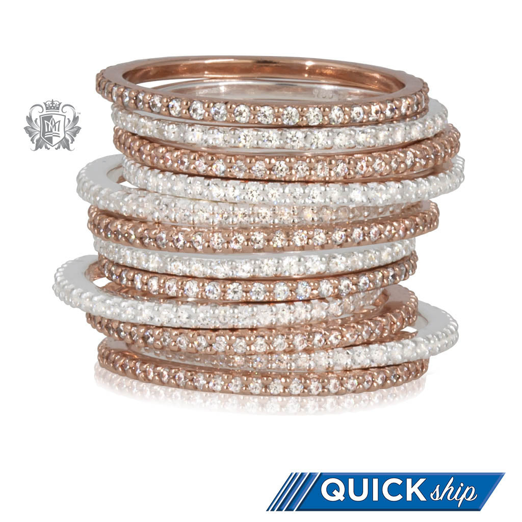 Quick Ship Eternal Stacking Cubic Ring Metalsmiths Sterling STACKED
