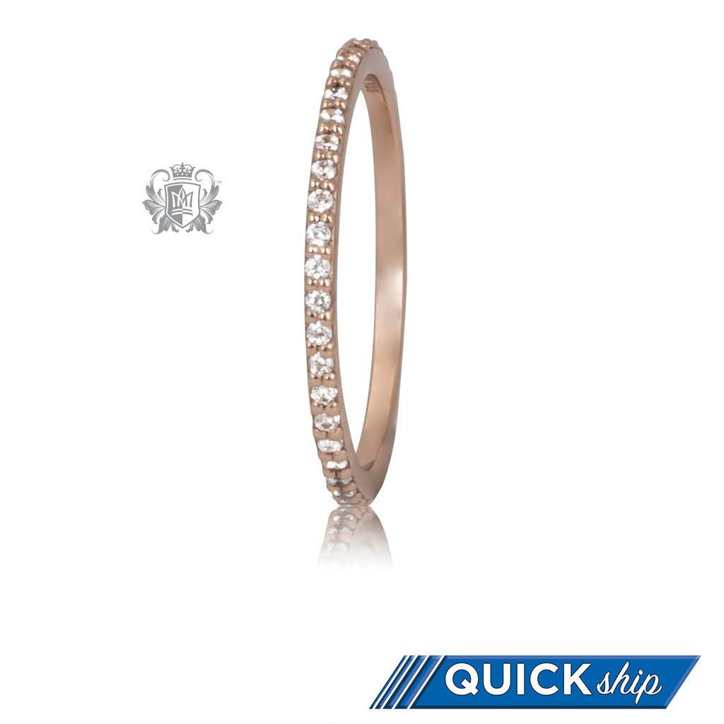 Quick Ship Rose Gold Eternal Stacking Cubic Ring Metalsmiths Sterling