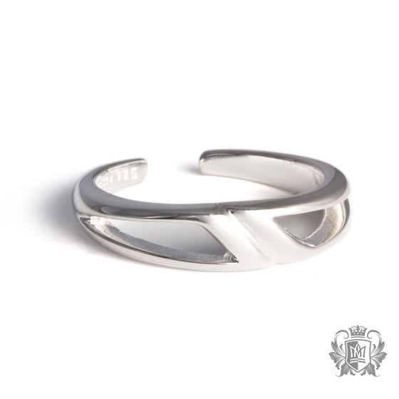 Metalsmiths Sterling Silver Sleek Wave Toe Ring
