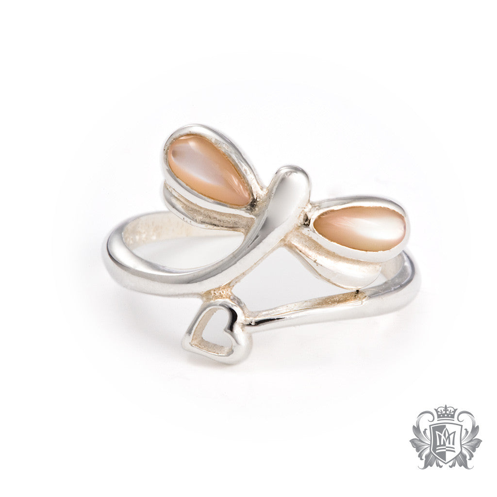 Mother of Pearl Dragonfly Toe Ring