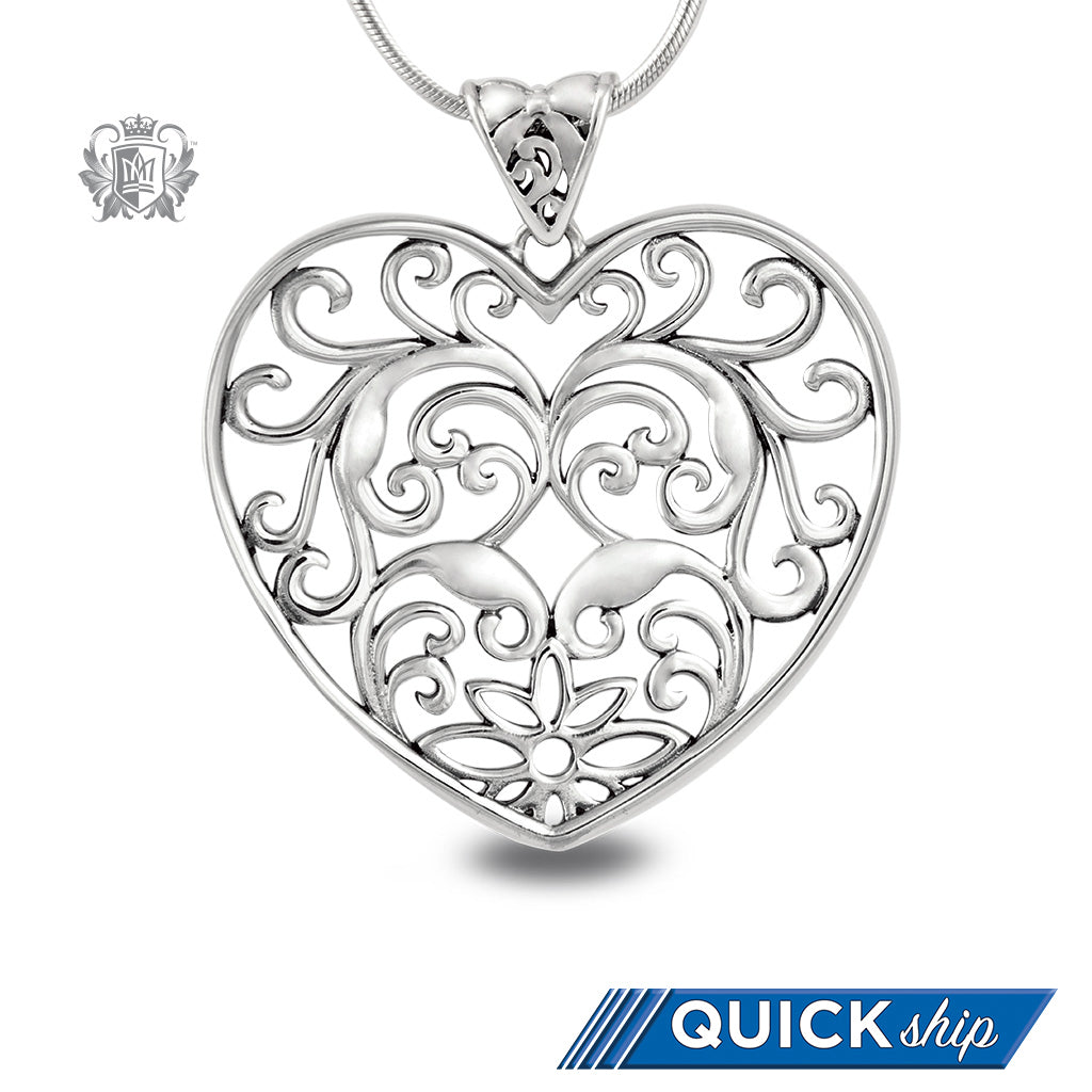 Large Scrolled Heart Pendant - Metalsmiths Sterling™ Canada