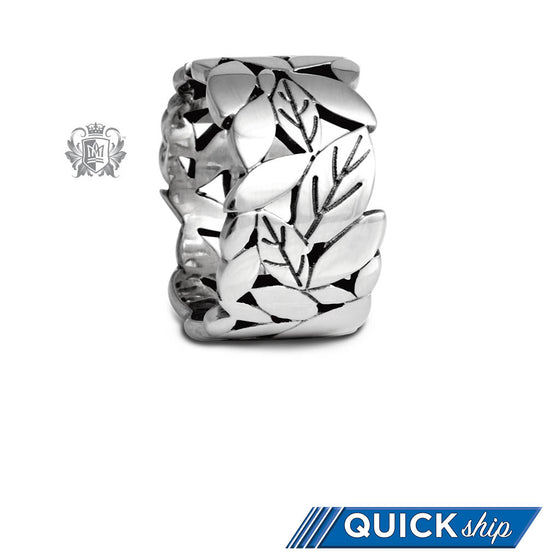 Quick Ship Wide Leaf Band - Metalsmiths Sterling䋢 Canada