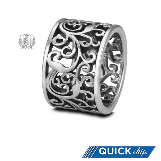 Quick Ship Wide Scroll Band - Metalsmiths Sterling䋢 Canada