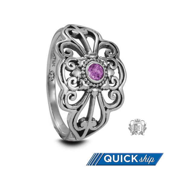 Panos Konidas Marquise Scroll Ring