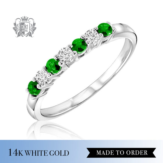 Emerald & Diamond Eternity Band Made to Order