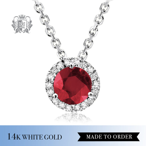 Ruby & Diamond Pendant Made to Order
