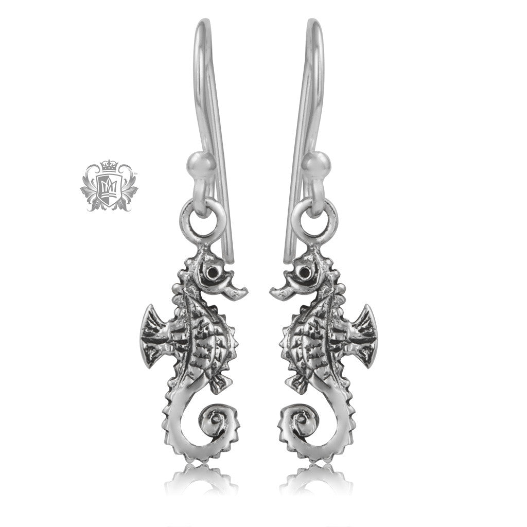 Seahorse Sterling Silver Hanger Earrings