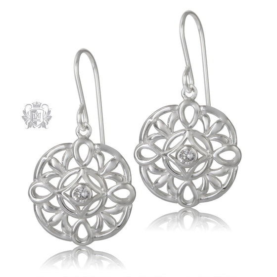Metalsmiths Sterling Silver Celtic Knot Sparkling Earrings