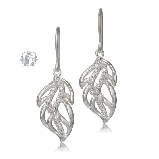 Metalsmiths Sterling Silver Chic Leaf Earrings