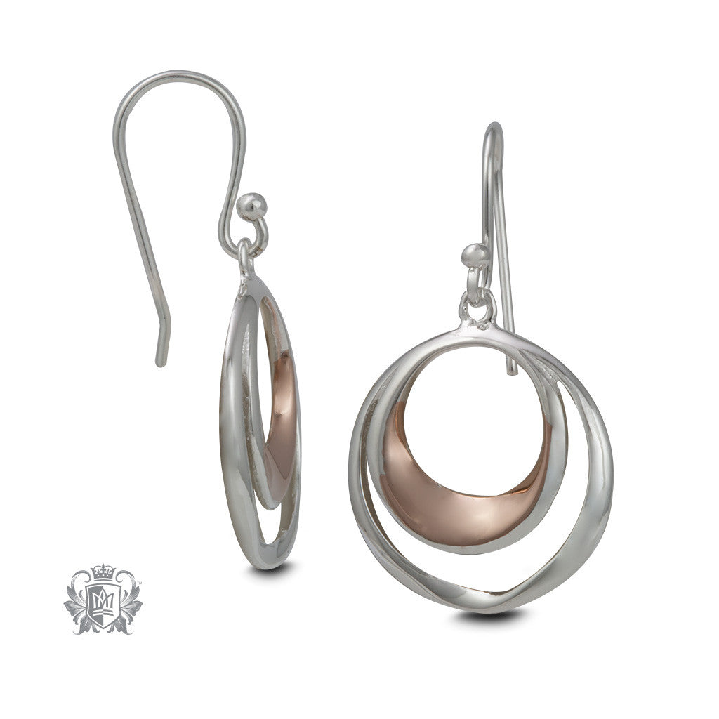 Double Loop Hangers with Rose Gold - side