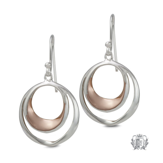 Double Loop Hangers with Rose Gold - front