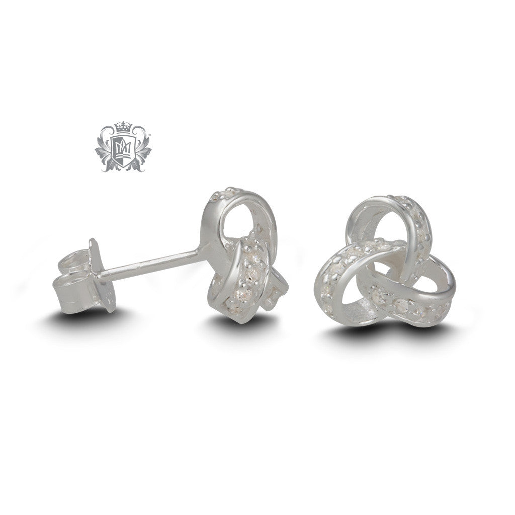 Endless Knot Cubic Studs - side