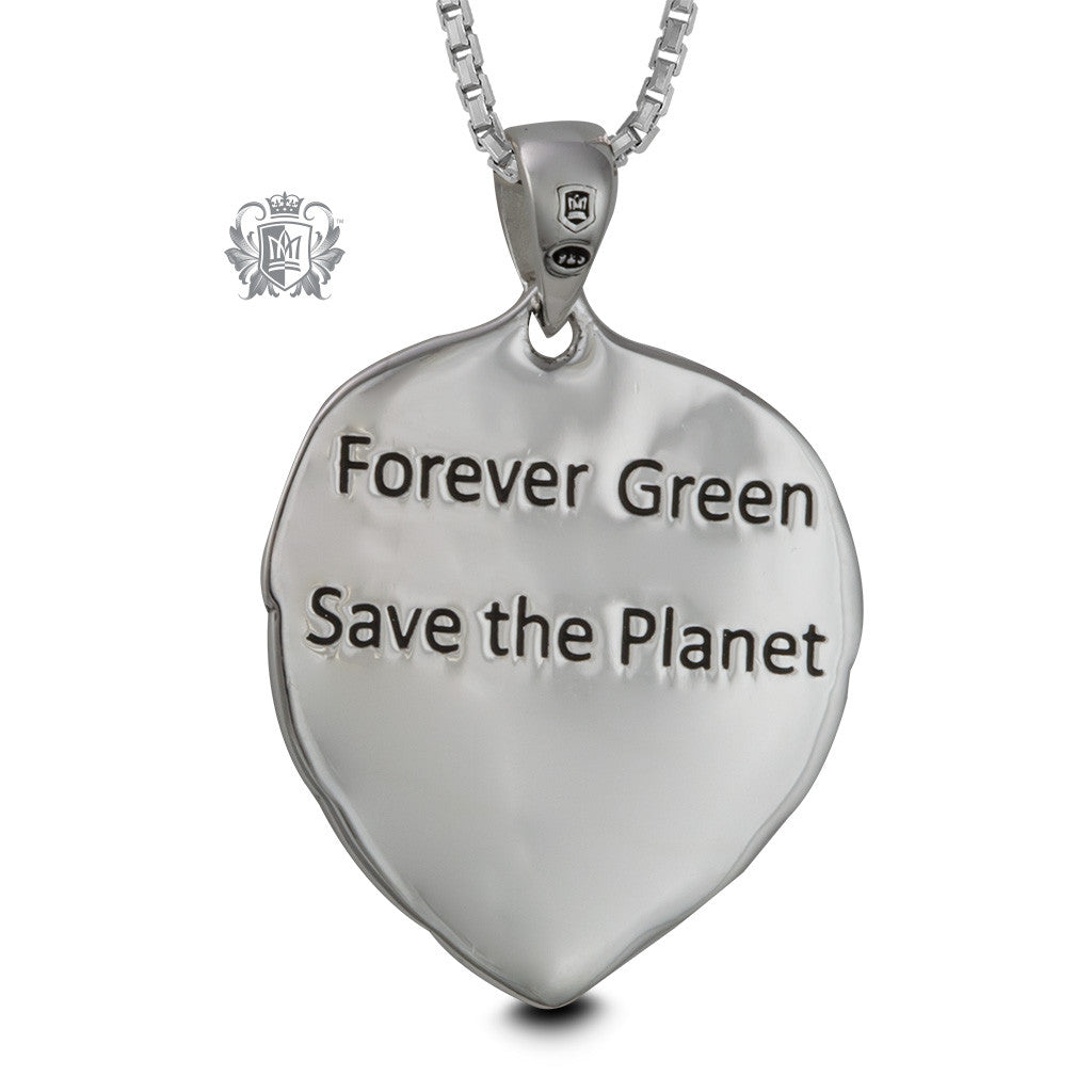 Forever Green Sterling Silver Pendant - back