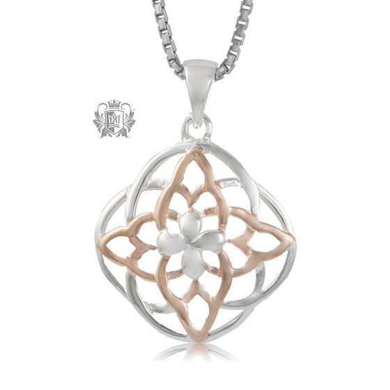 Metalsmiths Sterling Silver Rose Gold Dipped Celtic Knot Pendant