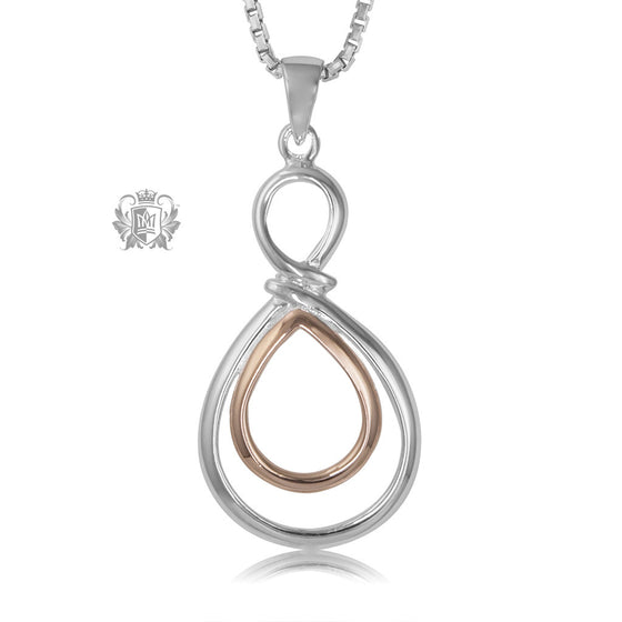 Metalsmiths Sterling Silver Rose Golden Loop Pendant