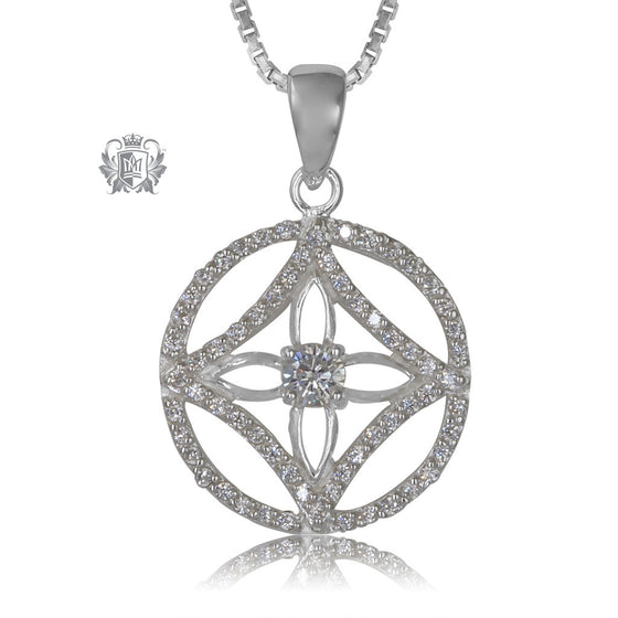 Metalsmiths Sterling Silver Dazzling Wheel pendant