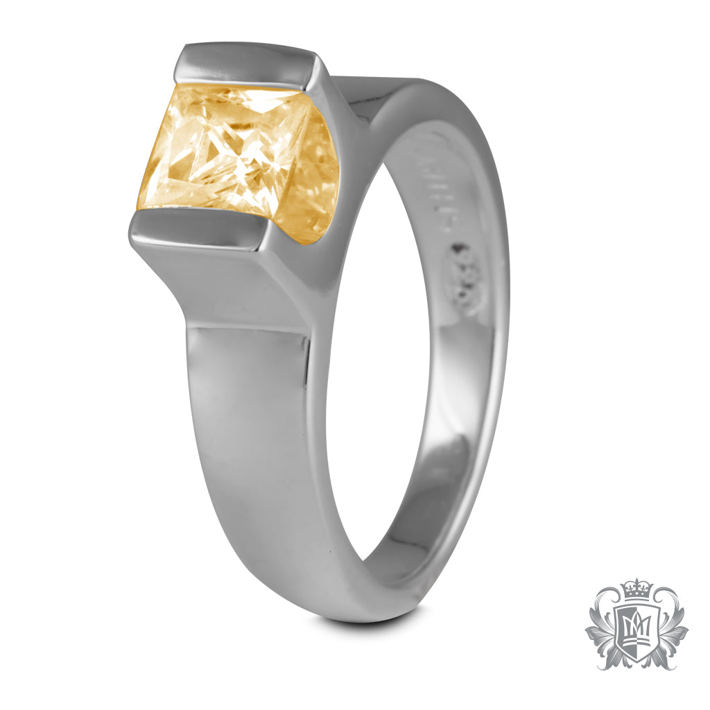 Floating Channel Set Ring Citrine