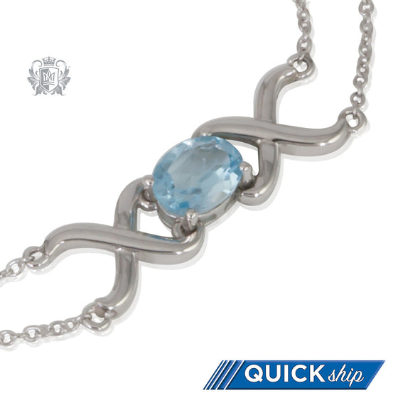 Blue Topaz XOX Bracelet - Quick Ship