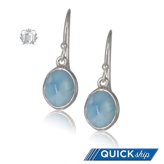 Larimar Oval Hangers - Quick Ship