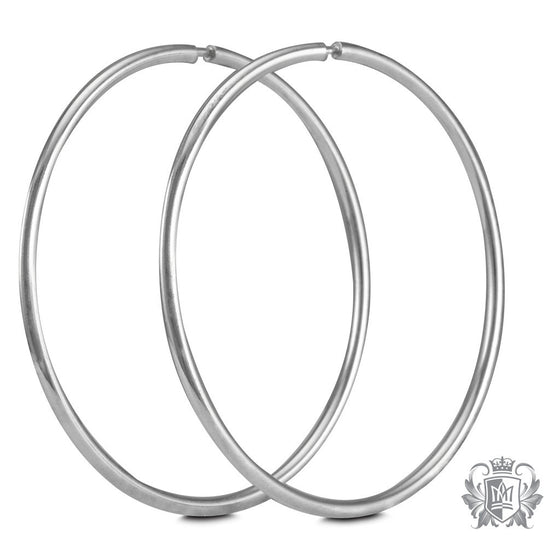 Metalsmiths Sterling Silver Large Sleeper Hoops