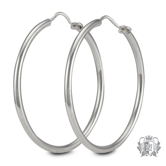 Metalsmiths Sterling Silver 32mm Hoop Earrings
