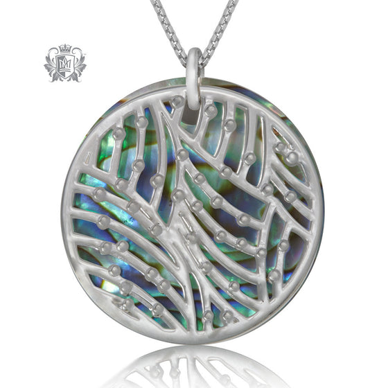 Metalsmiths Sterling Silver Azure Weave Abalone Pendant